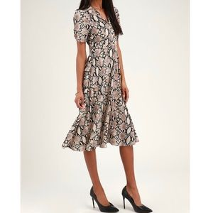 Lulus Snakeskin button down dress